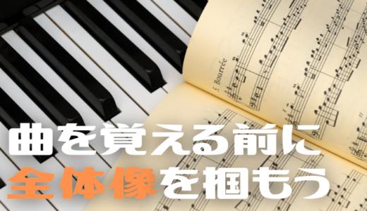 【ピアノ・キーボード】曲を覚える前に全体像を掴むメリット